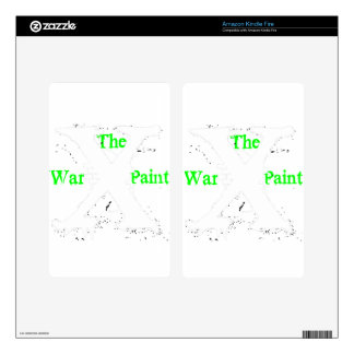 """Logotipo blanco de """"X"""" """"de la pintura de guerra"""" Kindle Fire Pegatinas Skins"""