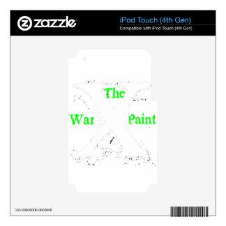 "Logotipo blanco de ""X"" ""de la pintura de guerra"" iPod Touch 4G Calcomanía"