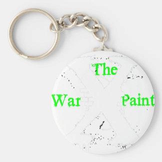 """Logotipo blanco de """"X"""" """"de la pintura de guerra"""" Llavero Personalizado"""