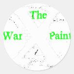 """Logotipo blanco de """"X"""" """"de la pintura de guerra"""" Etiquetas"""