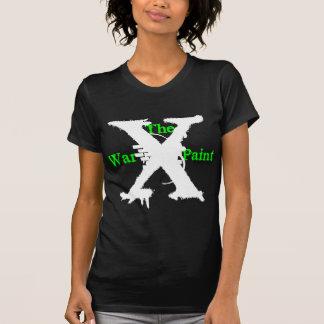 """Logotipo blanco de """"X"""" """"de la pintura de guerra"""" Camisetas"""