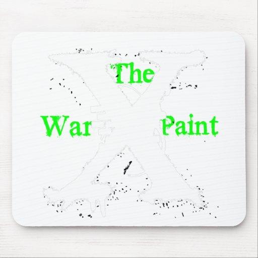"Logotipo blanco de ""X"" ""de la pintura de guerra"" Tapetes De Raton"