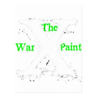 """Logotipo blanco de """"X"""" """"de la pintura de guerra"""" Postal"""