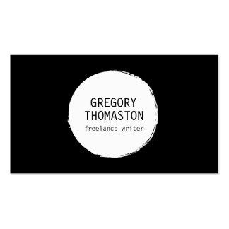 Logotipo blanco del círculo de la mancha blanca /n tarjetas de visita
