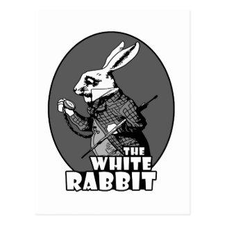Logotipo blanco del conejo postal