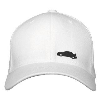 Logotipo blanco del negro del gorra de la silueta  gorro bordado