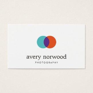 Logotipo blanco moderno fresco de la fotografía tarjetas de visita