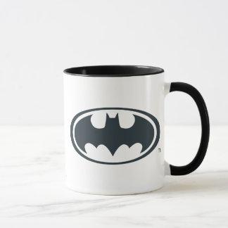 Logotipo blanco y negro del símbolo el | de Batman