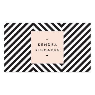 Logotipo blanco y negro retro del nombre primario plantillas de tarjetas de visita