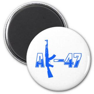 Logotipo Blue.png del rifle de asalto de AK-47 AKM Imán Redondo 5 Cm