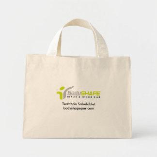 ¡Logotipo Bodyshape, Territorio Saludable! bodysha Bolsa Tela Pequeña