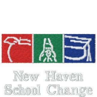 Logotipo bordado cambio de la escuela de New Haven Camiseta Polo Bordada
