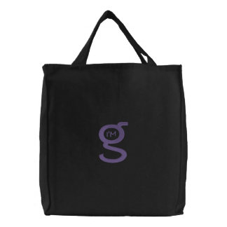 Logotipo bordado de la púrpura del bolso w bolsa