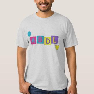 Logotipo brillante de ABDL Playera