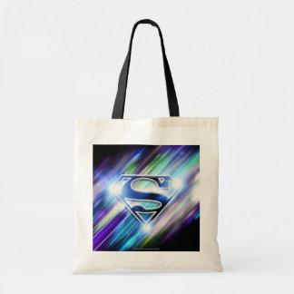 Logotipo brillante del superhombre de la explosión bolsa de mano