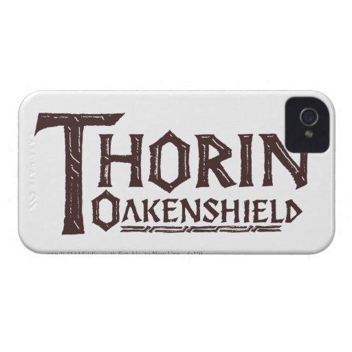 Logotipo Brown de THORIN OAKENSHIELD™ iPhone 4 Fundas