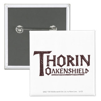 Logotipo Brown de THORIN OAKENSHIELD™ Pin Cuadrado
