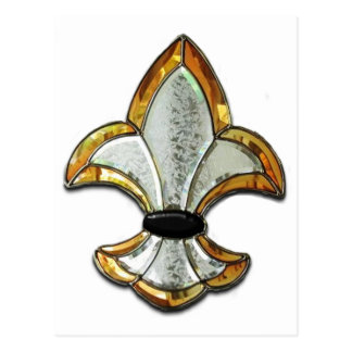 Logotipo Brown New Orleans del símbolo de Flor de Postal