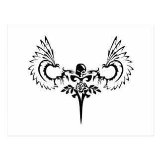 Logotipo caido del estudio del diseño del ángel postales