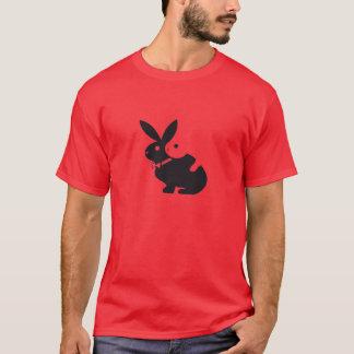 logotipo, caliente, conejos, lapin, humor, amorío, playera