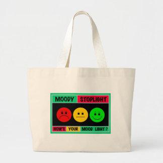 Logotipo cambiante horizontal de la luz de parada bolsas lienzo