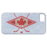 Logotipo canadiense de la bandera del hockey iPhone 5 coberturas