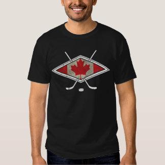 Logotipo canadiense de la bandera del hockey remeras