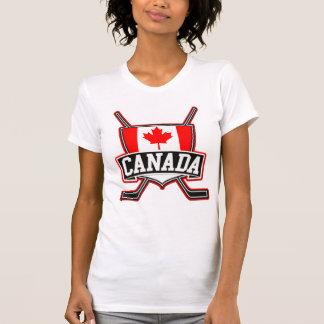 Logotipo canadiense del hockey playera