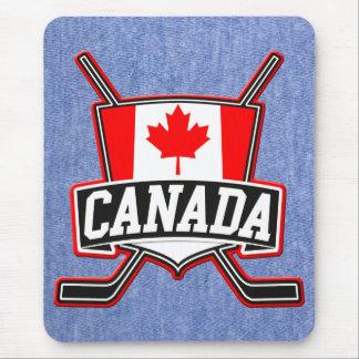 Logotipo canadiense del hockey tapetes de ratones