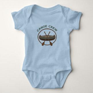 Logotipo Canoeing del equipo de la canoa Body Para Bebé