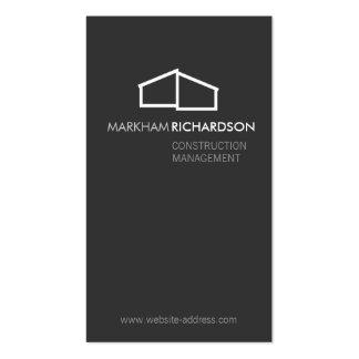 Logotipo casero moderno en el gris para la plantillas de tarjeta de negocio