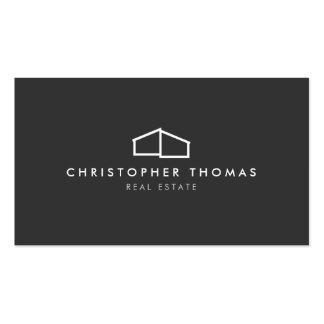 Logotipo casero moderno en el gris para las propie tarjetas de negocios