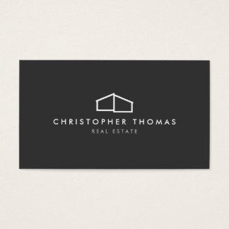 Logotipo casero moderno en el gris para las tarjeta de negocios