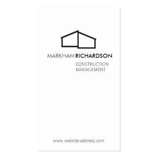 Logotipo casero moderno para la construcción, tarjetas de visita