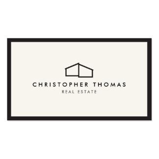Logotipo casero moderno para las propiedades tarjetas de visita