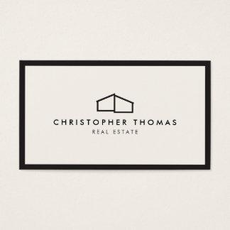 Logotipo casero moderno para las propiedades tarjeta de negocios