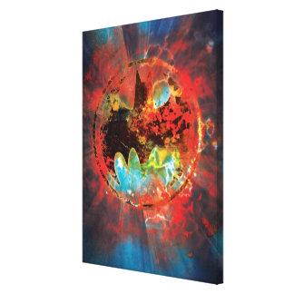 Logotipo cataclísmico del palo lienzo envuelto para galerías