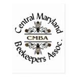 Logotipo central de los apicultores de Maryland Postal