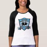 Logotipo CGAG-Para mujer del azul del béisbol Camiseta