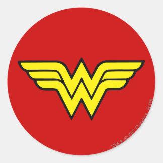 Logotipo clásico de la Mujer Maravilla el | Pegatina Redonda