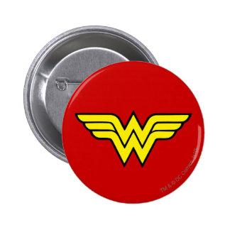 Logotipo clásico de la Mujer Maravilla el   Pin Redondo De 2 Pulgadas