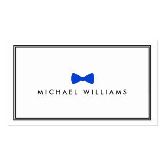 Logotipo clásico de la pajarita de los hombres - tarjeta de visita