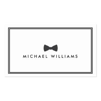 Logotipo clásico de la pajarita de los hombres - tarjetas de visita