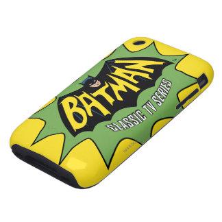 Logotipo clásico de la serie televisiva de Batman Carcasa Resistente Para iPhone