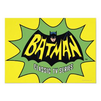 """Logotipo clásico de la serie televisiva de Batman Invitación 5"""" X 7"""""""
