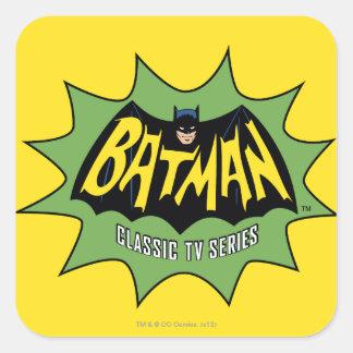 Logotipo clásico de la serie televisiva de Batman Pegatina Cuadrada
