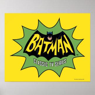 Logotipo clásico de la serie televisiva de Batman Póster