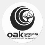 Logotipo clásico de OCC B/W Pegatinas Redondas