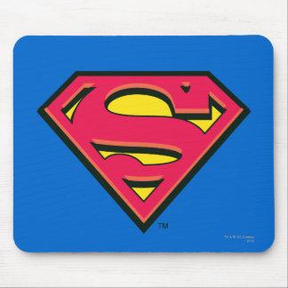 Logotipo clásico del S-Escudo el | del superhombre Alfombrillas De Ratones