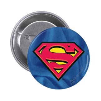 Logotipo clásico del S-Escudo el | del superhombre Pin Redondo De 2 Pulgadas